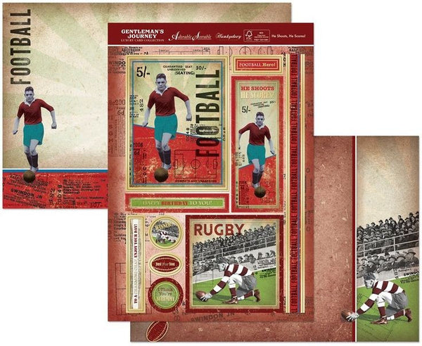 Gentleman'S Journey A4 Topper Set He Shootshe Scores! - hanrattycraftsgifts.co.uk