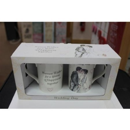 Wedding Day Mugs Gift Set by Lesser & Pavey - hanrattycraftsgifts.co.uk