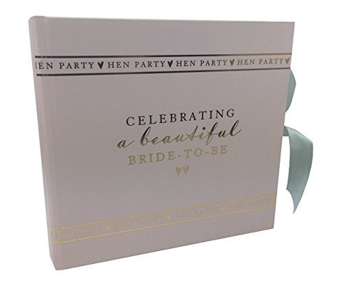 "Hen Party Bride To Be photo album gift boxed holds 50 6"" x 4"" photos - hanrattycraftsgifts.co.uk"
