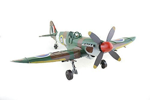 Metal Tin Spitfire Model WWII Plane Model, Collectors Item - hanrattycraftsgifts.co.uk