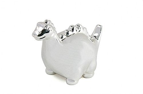 Lesser and Pavey - Little Treats Silver Plated Dinosaur Money Box - hanrattycraftsgifts.co.uk