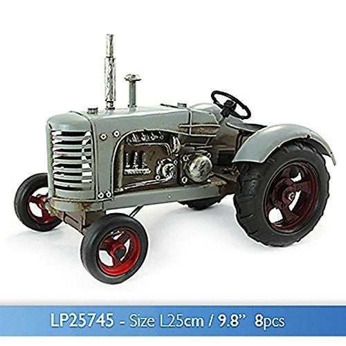 Yesteryear Tin Grey Tractor - hanrattycraftsgifts.co.uk
