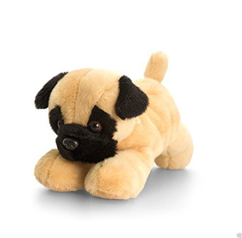 Keel Toys Laying Dogs - 15cm Laying Down Dog - PUG