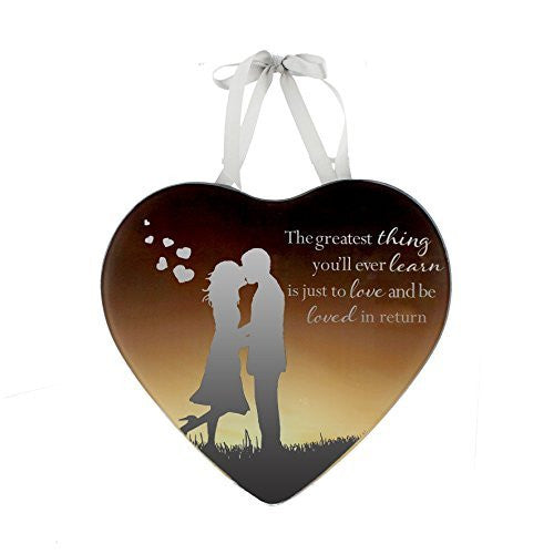 Greatest Gift is love - Reflections from the Heart Mirrored Hanging Plaque - hanrattycraftsgifts.co.uk