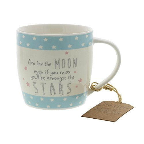 Novelty Tea Or Coffee Mug Gift For Her - Reach For the Moon - hanrattycraftsgifts.co.uk