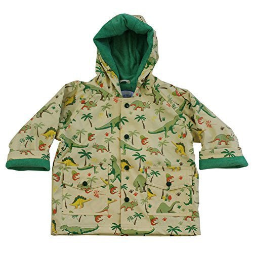 Powell Craft Boys Dinosaur Raincoat-Rain Mac.multicoloured (2-3 years) - hanrattycraftsgifts.co.uk