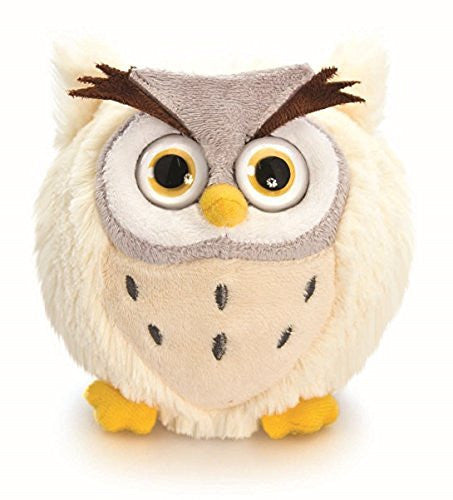 10 cm, motivo: Owl-Peluche, Glaring forma del Big Eyes, include una busta regalo - hanrattycraftsgifts.co.uk
