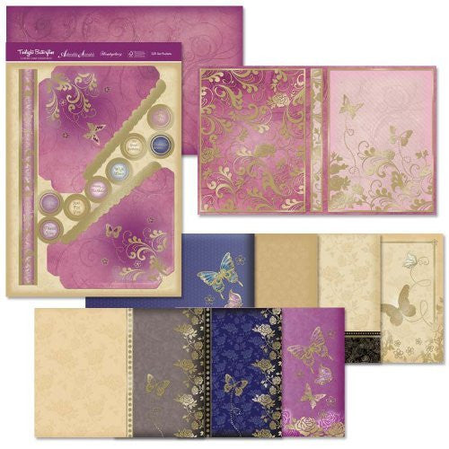hunkydory twilight butterflies greeting card gift set - hanrattycraftsgifts.co.uk