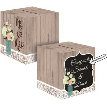 Rustic Wedding Card Box - Vintage Style Wedding - Receiving Box - hanrattycraftsgifts.co.uk