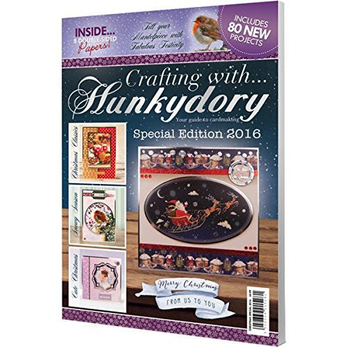 Crafting With Hunkydory Project Magazine-Christmas Edition 2016 - hanrattycraftsgifts.co.uk