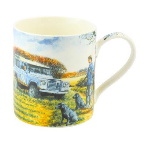 Ready For Anything - Country Shooting & Landrover - Fine Art Watercolour China Gift Mug - hanrattycraftsgifts.co.uk