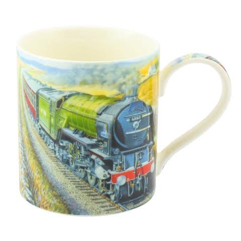 Age Of Steam Fine Art Watercolour China Gift Mug Steam Train - hanrattycraftsgifts.co.uk