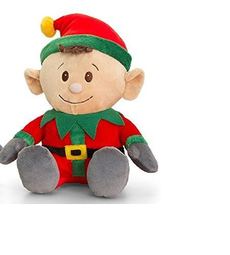 Keel Toys Christmas Elf Soft Plush Toy (Red 15cm) by Keel Toys - hanrattycraftsgifts.co.uk