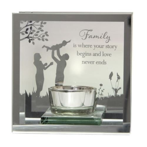 Reflections From The Heart T Lite Holder - Family - 12cm - 61565 - hanrattycraftsgifts.co.uk