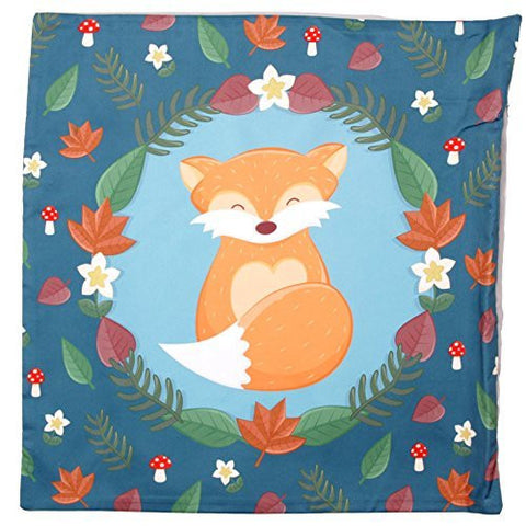 Decorative Fox Print Cushion Cover - hanrattycraftsgifts.co.uk