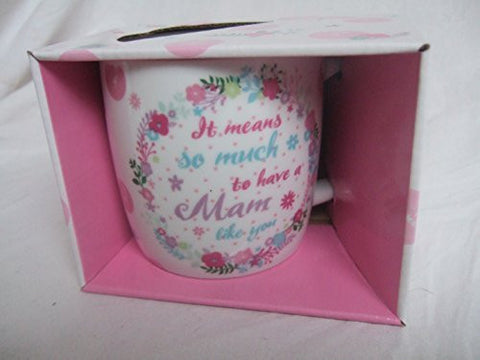 """It Means so Much to have a MAM Like You"" Bright Floral Sentimental Mug with Presentation Box"