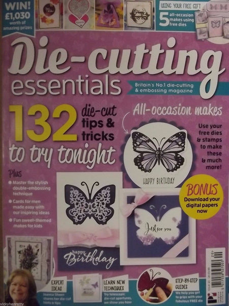 Die Cutting Essentials Magazine Issue 20 with Free Butterfly Wishes Die & Stamp - hanrattycraftsgifts.co.uk