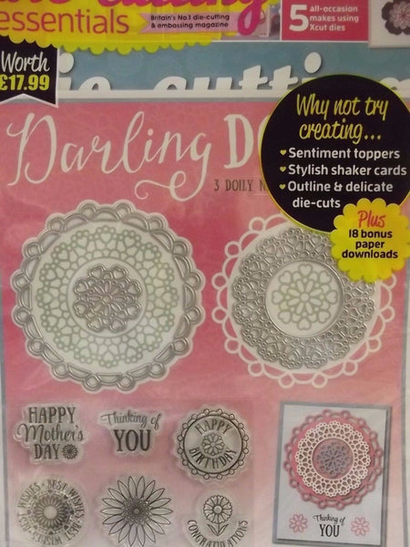 Die Cutting Essentials Magazine Issue 21 March 2017- Doilies nesting dies&stamp - hanrattycraftsgifts.co.uk
