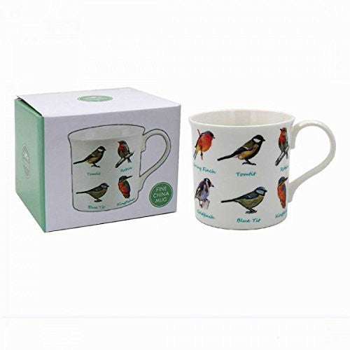 Birds Bone China Mug Gift Boxed