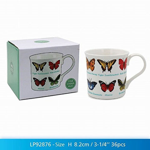Butterfly Lovers Multi Breeds Fine China Mug in a Gift Box