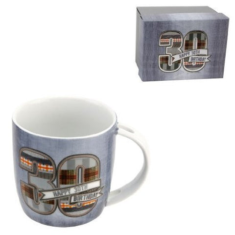 Denim Design Boxed 30th Birthday Mug
