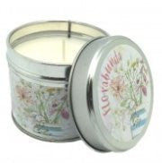 Candle in a Tin, Florabunda by Caroline Cleave - hanrattycraftsgifts.co.uk