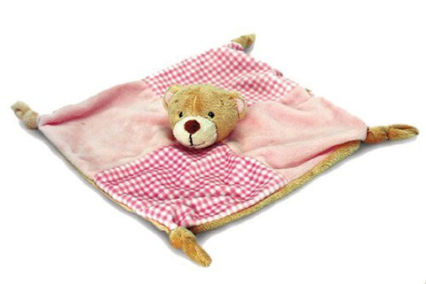 Pink Teddy Bear Comfort Blanket - hanrattycraftsgifts.co.uk