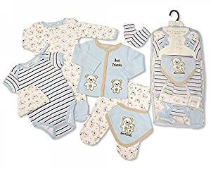 Baby Boys 7 Pieces Mesh Set - Best Friends (Newborn)