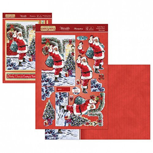Santa Claus is Coming to Town Deco-Large Set - hanrattycraftsgifts.co.uk