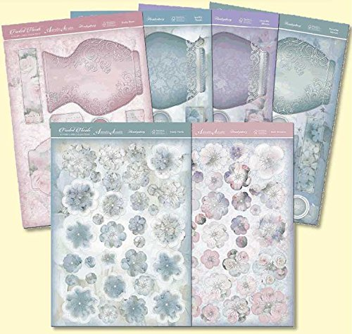 Frosted Florals Premium Card Kit-Pop-Up Vase - hanrattycraftsgifts.co.uk