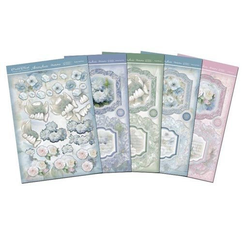 Frosted Florals Premium Card Kit-Ribbon Edge Diarama