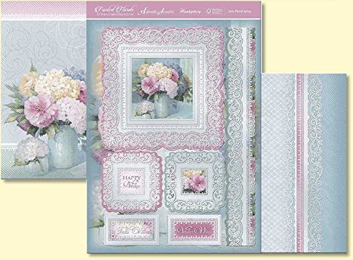 frosted florals lace floral spray