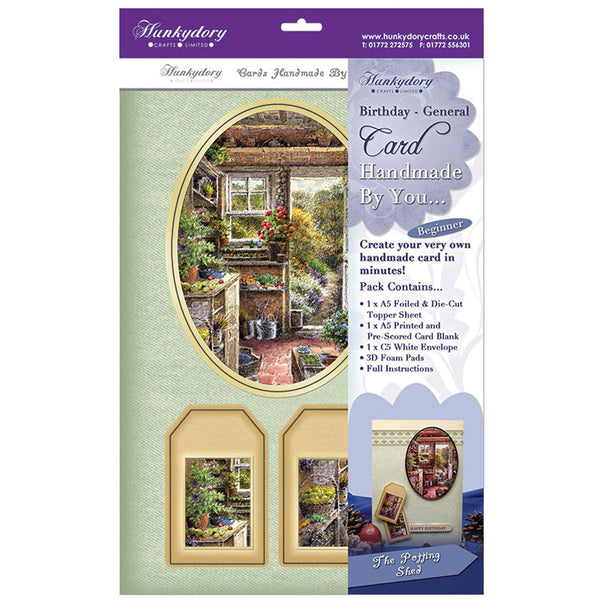 hunkydory handmade by you card kit the potting shed birthday-general