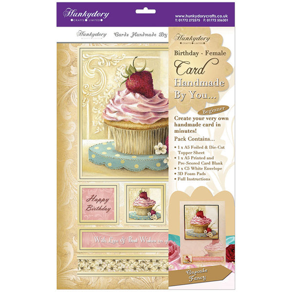 hunkydory handmade by you card kit cupcake fancy birthday female - hanrattycraftsgifts.co.uk