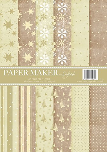 Paper Maker Pad by Craftstyle Christmas Design Printed Paper - hanrattycraftsgifts.co.uk