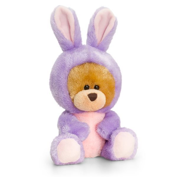 Keel Toys 14cm Pipp The Bear Bunny Rabbit Purple  Ones-sie Cuddly Teddy Soft Toy - hanrattycraftsgifts.co.uk