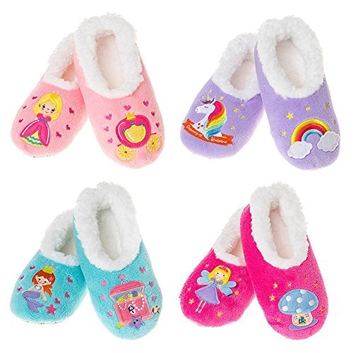Girls Snoozies Various Fairy Tale Kids  Girls (MEDIUM GIRLS UK 1-2, BLUE MERMAID)