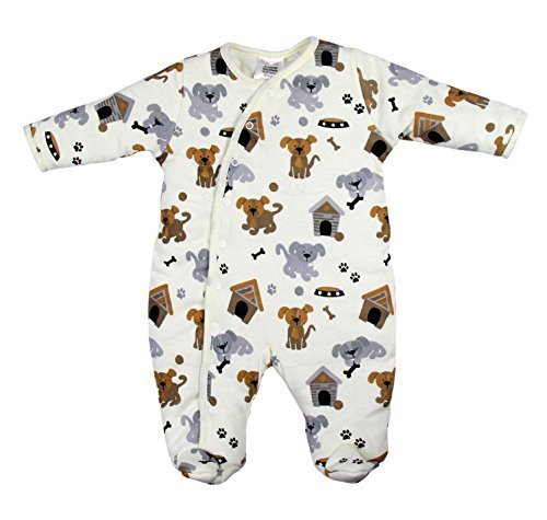 BABYTOWN Baby Girls Boys Padded Pramsuit Sleepsuit Coat Printed r Dog - hanrattycraftsgifts.co.uk