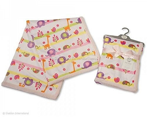 Cover/Casing Baby Girl Safari Print: 75 x 100 cm - hanrattycraftsgifts.co.uk