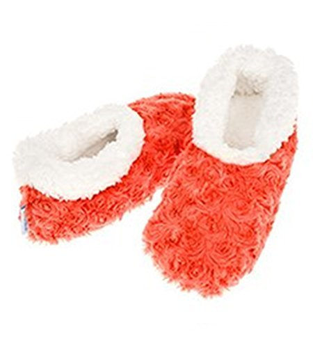 Ladies Super Soft Rose Textured Fur-Like Fabric Snoozies Slippers - hanrattycraftsgifts.co.uk