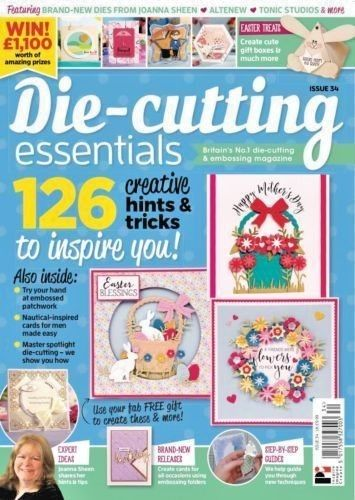 Die Cutting Essentials Magazine Issue 34 -with Basket of Blossoms Easter Die Set - hanrattycraftsgifts.co.uk