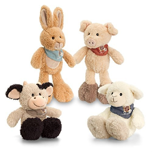 Keel Toys - Tumbleweed Farm Soft Toy with Bandana - 15cm  set - hanrattycraftsgifts.co.uk