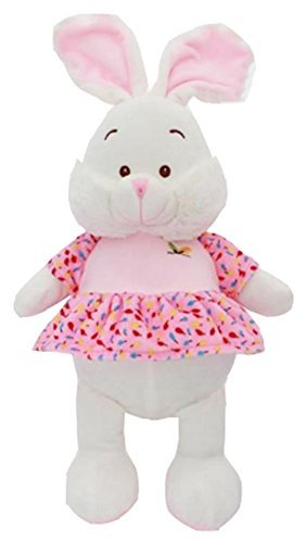 "Soft Plush Toy Animal 11"" Kids Baby Cuddly  (Rabbit) - hanrattycraftsgifts.co.uk"