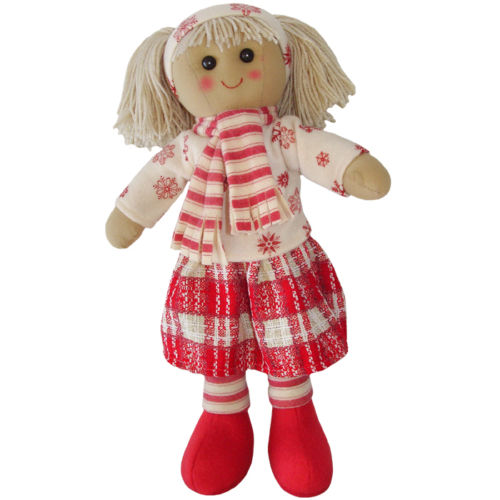 Powell Craft Large Rag Doll with Hat & Scarf- 40cm - hanrattycraftsgifts.co.uk