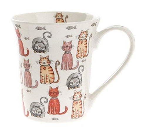 China Cat Mug - Cute Cat Mug - Multi Cats