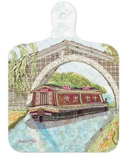 Mini Melamine Chopping Board Canal Barge by Abigail Mill - hanrattycraftsgifts.co.uk