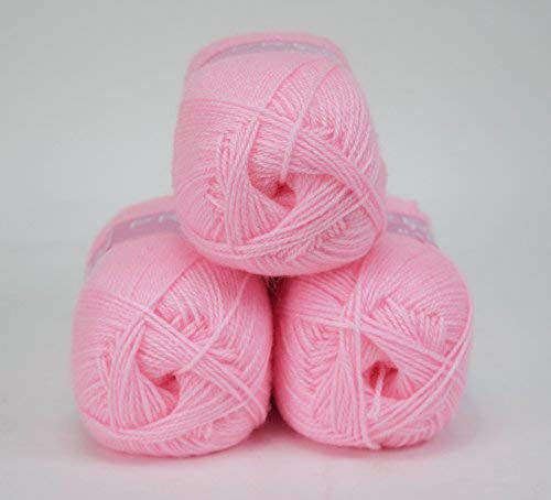 king cole PREMIER VALUE BABY DOUBLE KNIT YARN WOOL ACRYLIC 3 PACK (3 X 100G) - PINK - hanrattycraftsgifts.co.uk