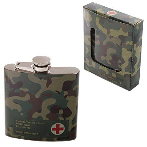 Camouflage Hip Flask (6oz)
