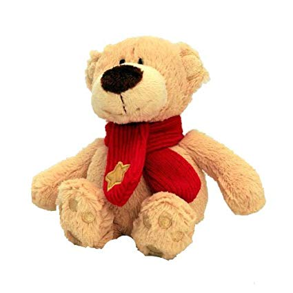 Keel Toys Buddy Bear With Star on Scarf 15cm - hanrattycraftsgifts.co.uk