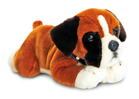 Beautifully Crafted 30cm Boxer Soft Toy Dog by Keel Toys Called 'Bumper' - hanrattycraftsgifts.co.uk